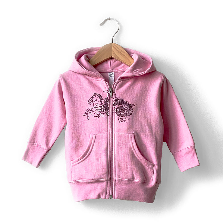 Winged Horse Zip Sweatshirt, Infant