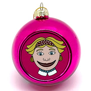 Millie Pink Ball Ornament, Pink