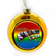 Greetings Ball Ornament, Gold