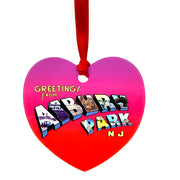 Greetings Heart Ornament