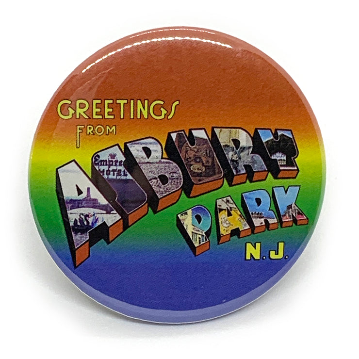 "Greetings 2 1/4"" Button Pin"