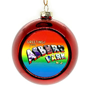 Greetings Ball Ornament, Red