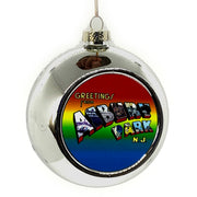 Greetings Ball Ornament, Silver