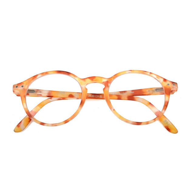 #D YELLOW TORTOISE Reading Glasses, +3