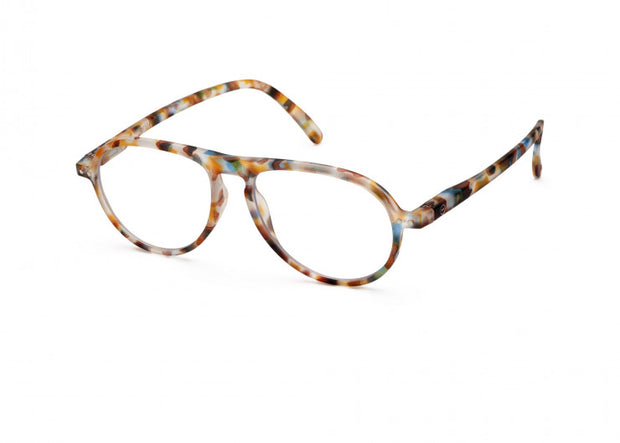 #K BLUE TORTOISE Reading Glasses