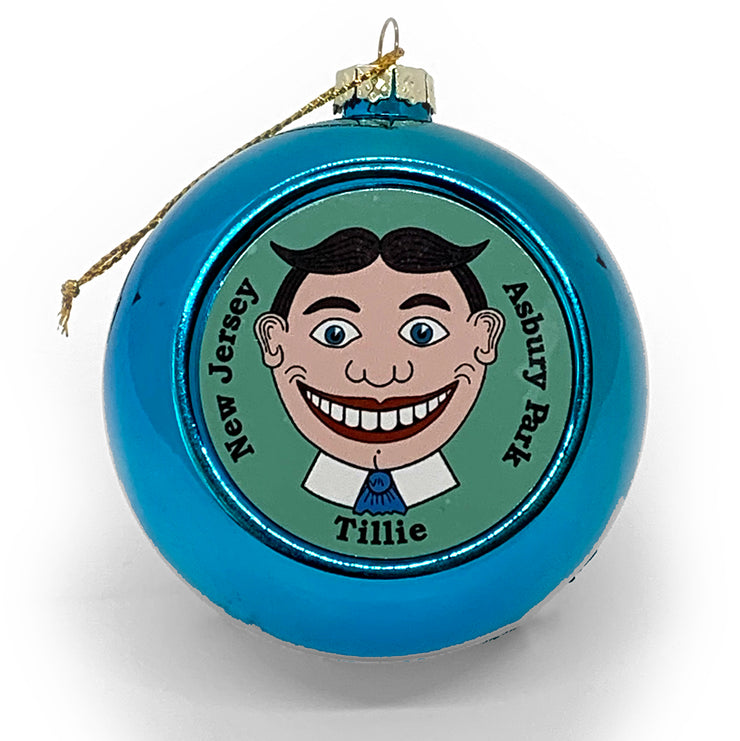 Tillie Ball Ornament, Blue