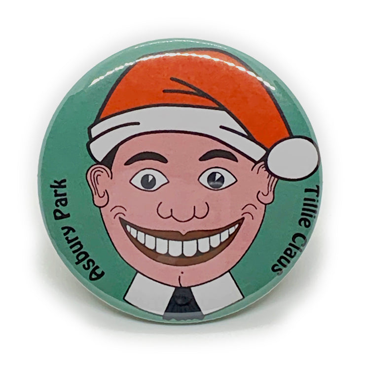 "Tillie Claus 2 1/4"" Button Pin"