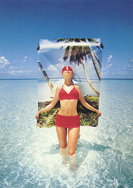 Kati in the Maldives, 1996 Postcard
