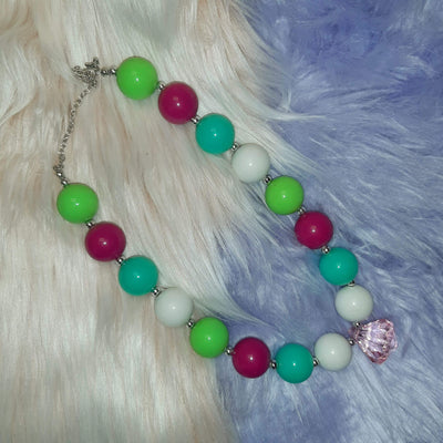 Colorful White Jewel Bubblegum Necklace - Wish Upon a Boutique