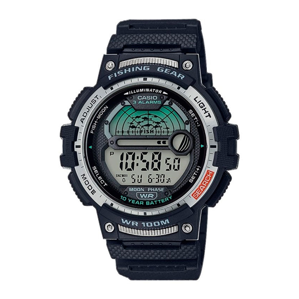 Reloj Casio Vintage Fishing Gear WS-1200H-1AVCF Negro [EXCLUSIVO]