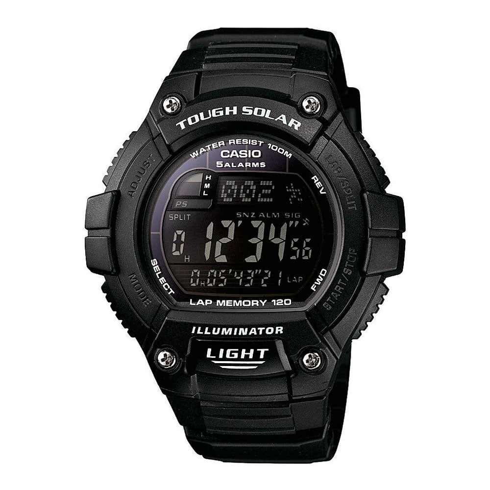 Reloj Casio Vintage Sports Lap Memory W-S220-1BVCF Tough Solar [EXCLUSIVO]