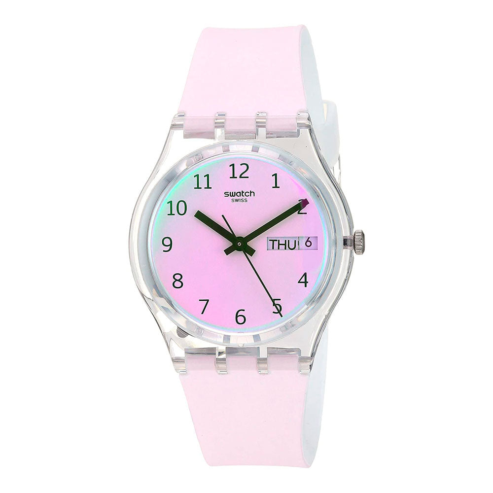 Reloj Swatch GE714 Ultrarose 34mm Swiss Made - Dando la Hora