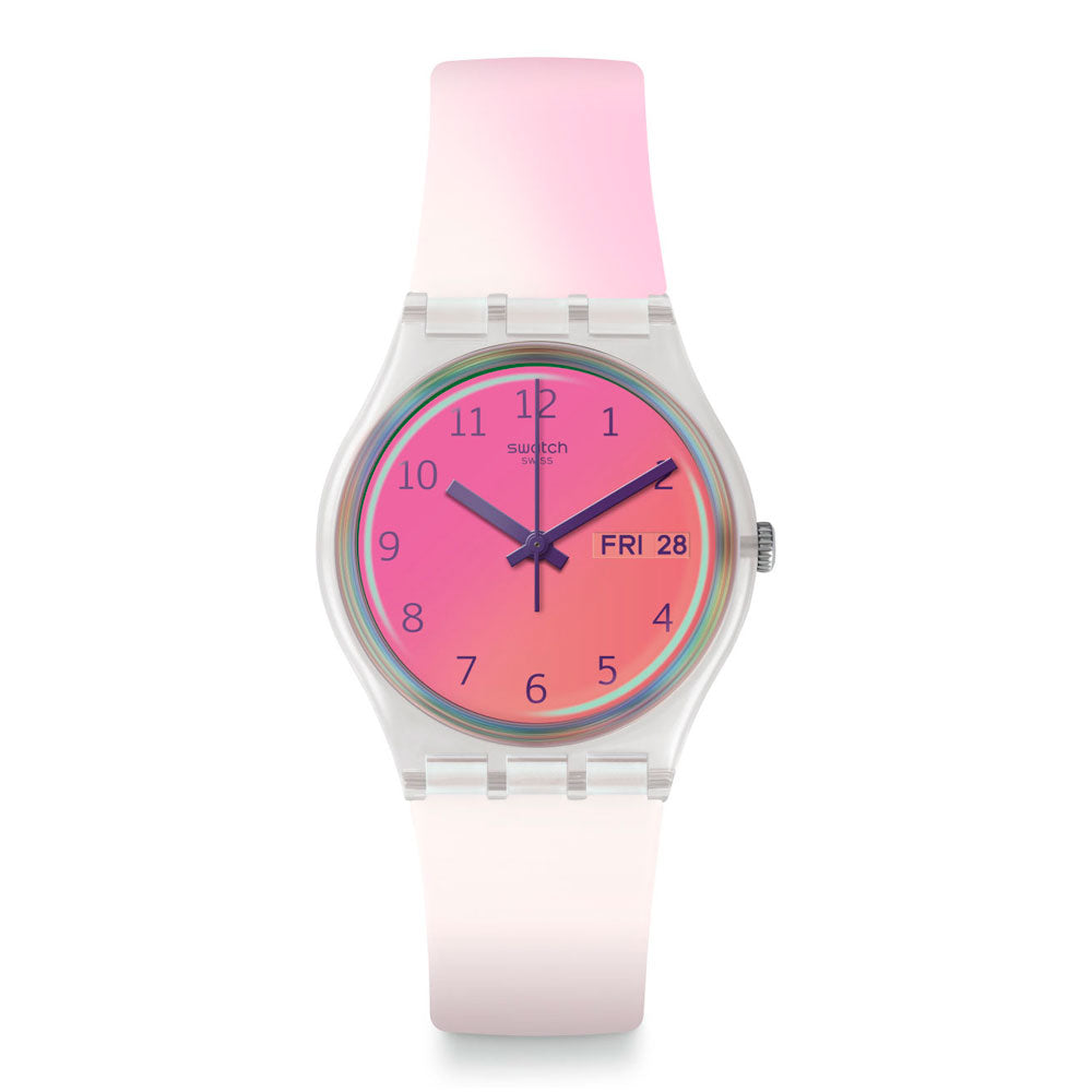 Reloj Swatch GE719 Ultrafushia 34mm Swiss Made - Dando la Hora