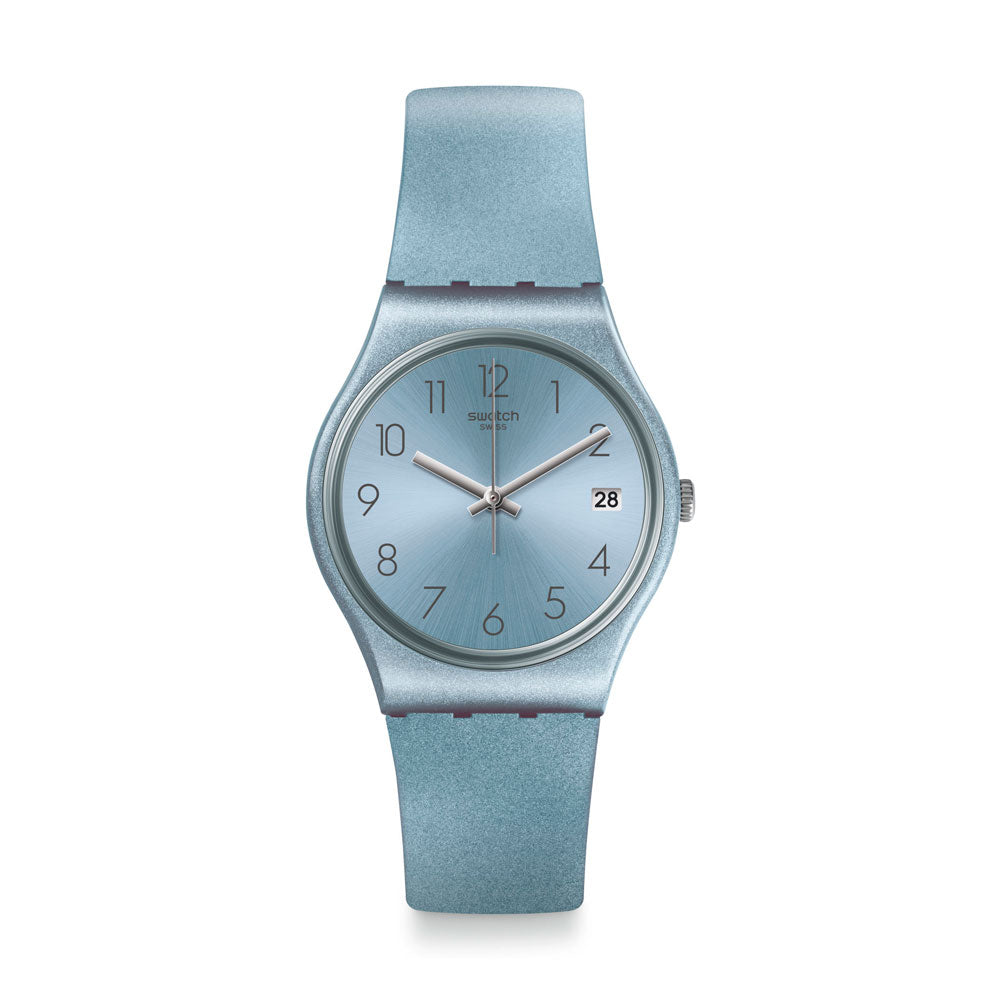 Reloj Swatch GL401 Azulbaya 34mm Swiss Made - Dando la Hora