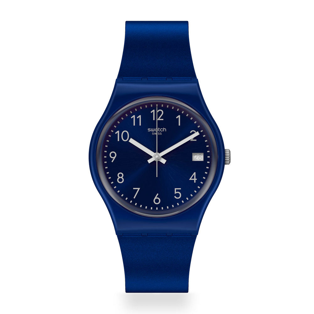 Reloj Swatch GN416 Silver in Blue 34mm Swiss Made - Dando la Hora