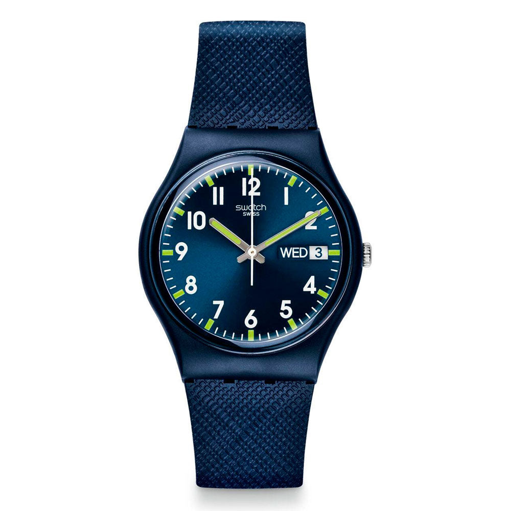 Reloj Swatch GN718 Sir Blue 34mm Swiss Made - Dando la Hora