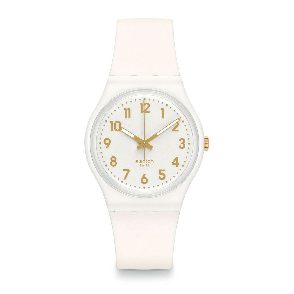 Reloj Swatch GW164 White Bishop 34mm Swiss Made- Dando la Hora