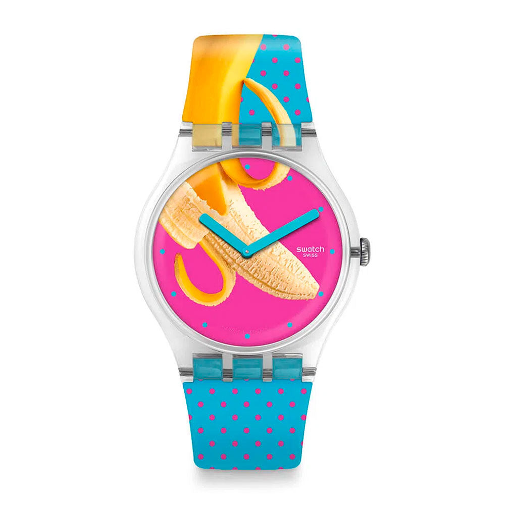 Reloj Swatch SUOK140 Banana Slip 41mm Swiss Made -  Dando la Hora
