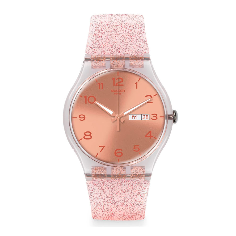 Reloj Swatch SUOK703 Pink Glistar 41mm Swiss Made -  Dando la Hora