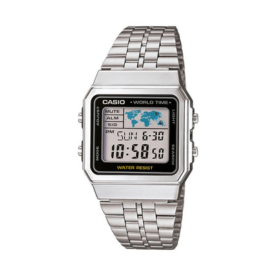 Reloj World Time Casio Vintage A500WA-1DF Plateado