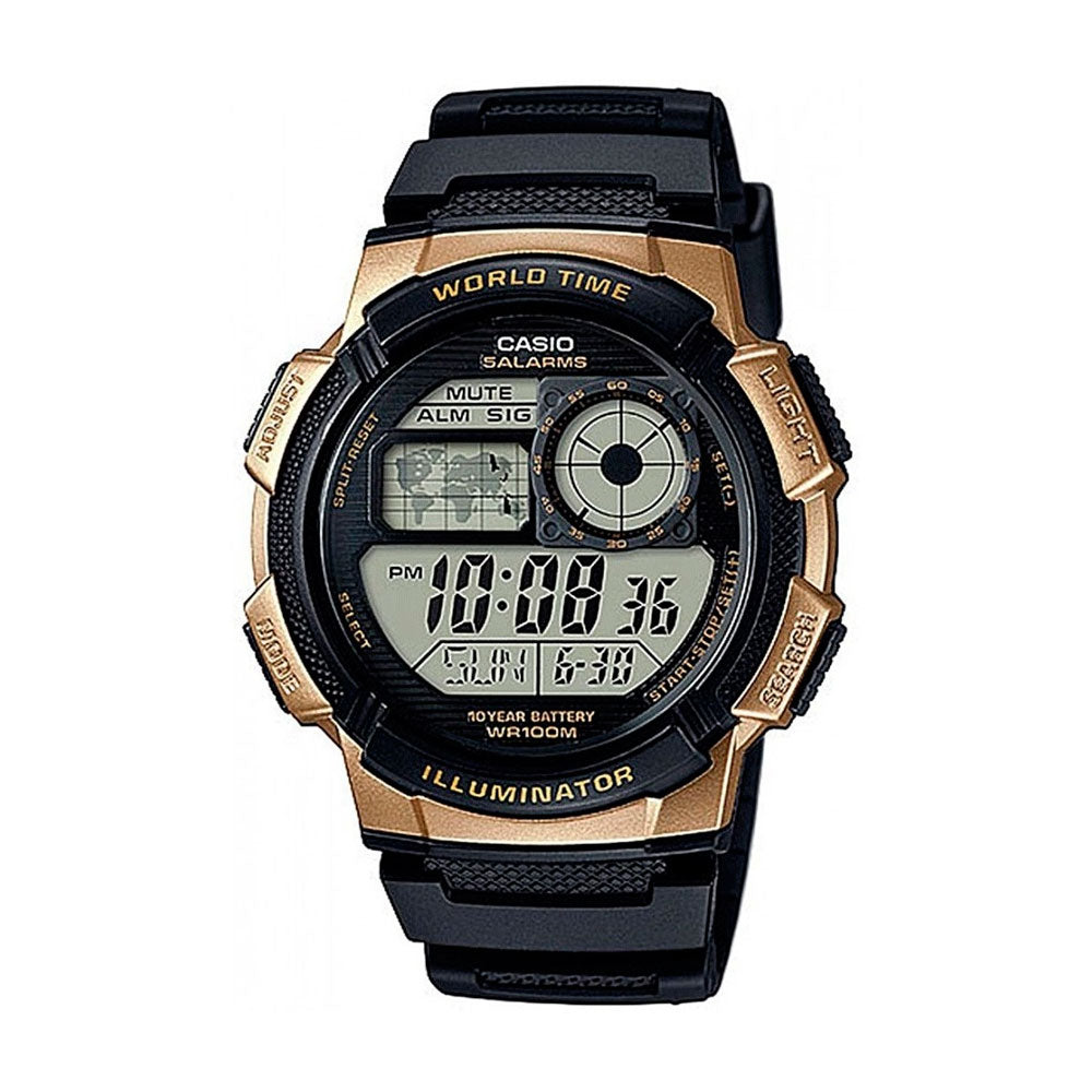 Reloj World Time Royale Casio Vintage AE-1000W-1A3VDF Dorado