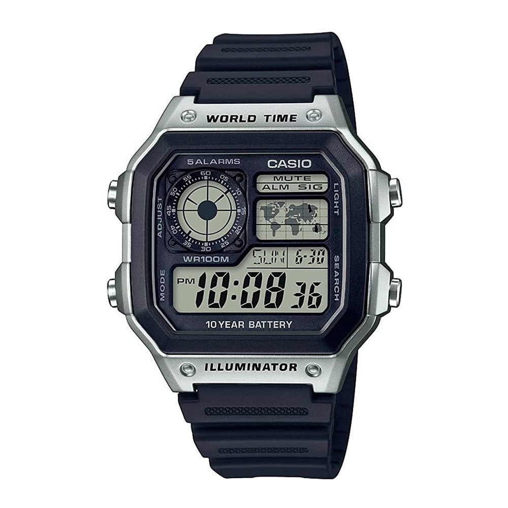 Reloj World Time Royale Casio Vintage AE-1200WH-1CVCF - Dando la Hora