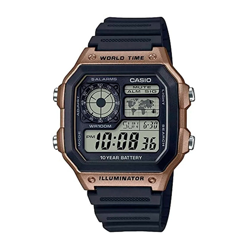 Reloj World Time Royale Casio Vintage AE-1200WH-5AVCF - Dando la Hora