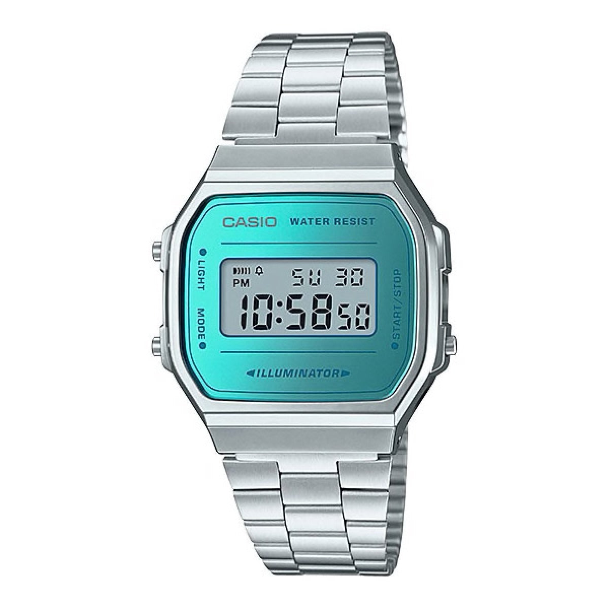 Reloj Vintage Casio A168WEM-2DF Digital Metálico Calipso