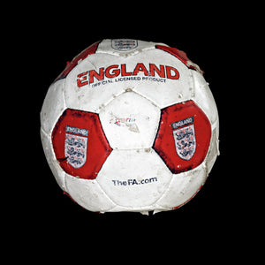 Red England football on black background print
