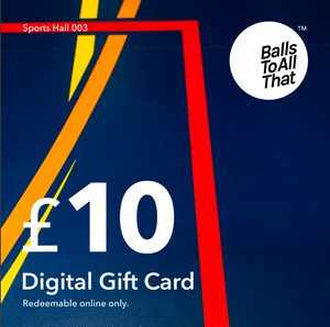 Open image in slideshow, £10 digital gift card on sports hall background