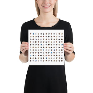 Open image in slideshow, Woman holding collage of old golf balls on white background poster