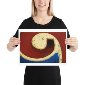 Open image in slideshow, Woman holding red, yellow and blue crazy golf poster