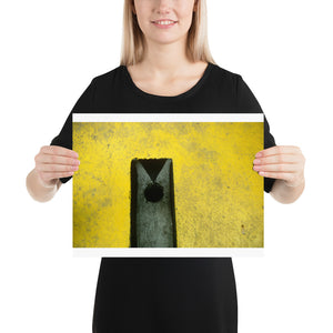 Open image in slideshow, Woman holding yellow crazy golf hole poster