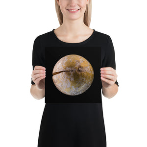 Open image in slideshow, Woman holding croquet ball on black background poster