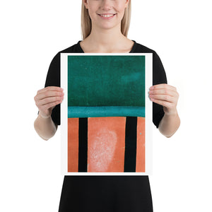 Open image in slideshow, Woman holding red and green crazy golf course poster