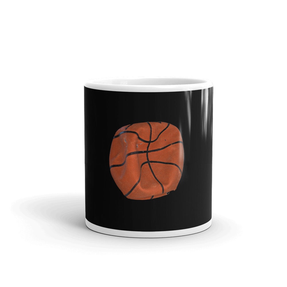 Basketball photography print on black mug