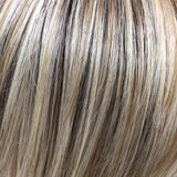 Butterbeer Blonde (8R/19/23) - Medium brown root with a blend of sandy blonde, ash blonde and light blonde