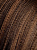 DARK-CHOCOLATE-ROOTED (4.33.2) - Dark Espresso brown mixed with dark auburn and darkest Brown