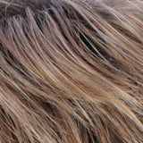 R30/28/26RT4 - Medium Auburn / Light Auburn / Golden Blonde Blend with Dark Brown Roots