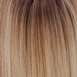 Honey with Chai Latte (11R/88B/613) - A blend of Sienna Brown and cool medium brown root with mixture blend of honey blonde, light blonde, smoky blonde with a hint of pure blonde