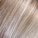 101/48T - Pearl White, Lt Natural Gold Brown w/ 75% Grey Blend w/ Pearl White Tips - Salon Color Levels: 7NG/Grey/White