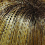 24B/27CS10 - Lt Gold Blonde & Med Red-Gold Blonde Blend, Shaded w/ Lt Brown - Salon Color Levels: 9NG/8RG/7N