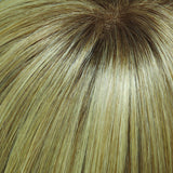 24B613S12 - Med Natural Ash Blonde & Pale Natural Gold Blonde Blend and Tipped, Shaded w/ Lt Gold Brown - Salon Color Levels: 8NA/12NG/8NG