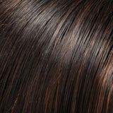1BRH30 - Soft Black w/ 33% Gold-Red Highlights - Salon Color Levels: 1N/7RG