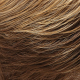 10/26TT - Lt Brown & Med Red-Gold Blonde Blend w/ Lt Brown Nape - Salon Color Levels: 6N/7RG