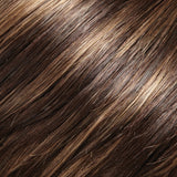 6RH12 - Brown w/ 33% Lt Gold Brown Highlights - Salon Color Levels: 4N/8NG