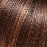 FS6/30/27 - Toffee Truffle :: Brown, Med Red-Gold, Med Red-Gold Blonde Blend w/ Med Red Gold Blonde Bold Highlights - Salon Color Levels: 4N/6NRG/6RG
