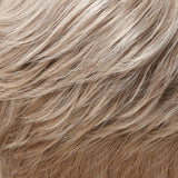 101F48T - Soft White Front, Lt Brown w/ 75% Grey Blend w/ Soft White Tips  - Salon Color Levels: 12NA/8N/Soft White
