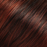 130/4 - Dk Brown, Dk Red & Med Red Blend w/ Med Red Tips - Salon Color Levels: 3N/6R/7R