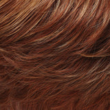 27MBF - Dk Red-Gold Blonde w/ Med Red Nape  - Salon Color Levels: 7RG/6R